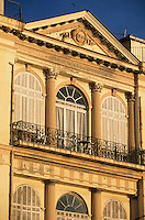 Europe/France/Corse/2B/Haute-Corse/Cap Corse/Bastia: Détail d'une maison de 1846 sur le quai des Martyrs