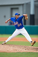 Colt Springs (24) of Marlboro County High School in Bennettsville, South Carolina playing for the New York Mets scout team at the South Atlantic Border Battle at Doak Field on November 1, 2014.  (Brian Westerholt/Four Seam Images)