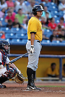 Bowling Green Hot Rods Ryan Wiegand during a game vs. the Lake County Captains at Classic Park in Eastlake, Ohio;  August 20, 2010.   Lake County defeated Bowling Green 5-3.  Photo By Mike Janes/Four Seam Images