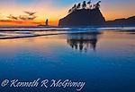 McGivney. Sunset on Second Beach, Olympic Peninsula, Washington