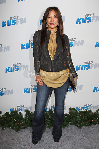LOS ANGELES, CA - DECEMBER 03: Carrie Ann Inaba at day 2 of KIIS FM's 2012 Jingle Ball at Nokia Theatre L.A. Live on December 3, 2012 in Los Angeles, California. Credit: mpi21/MediaPunch inc.