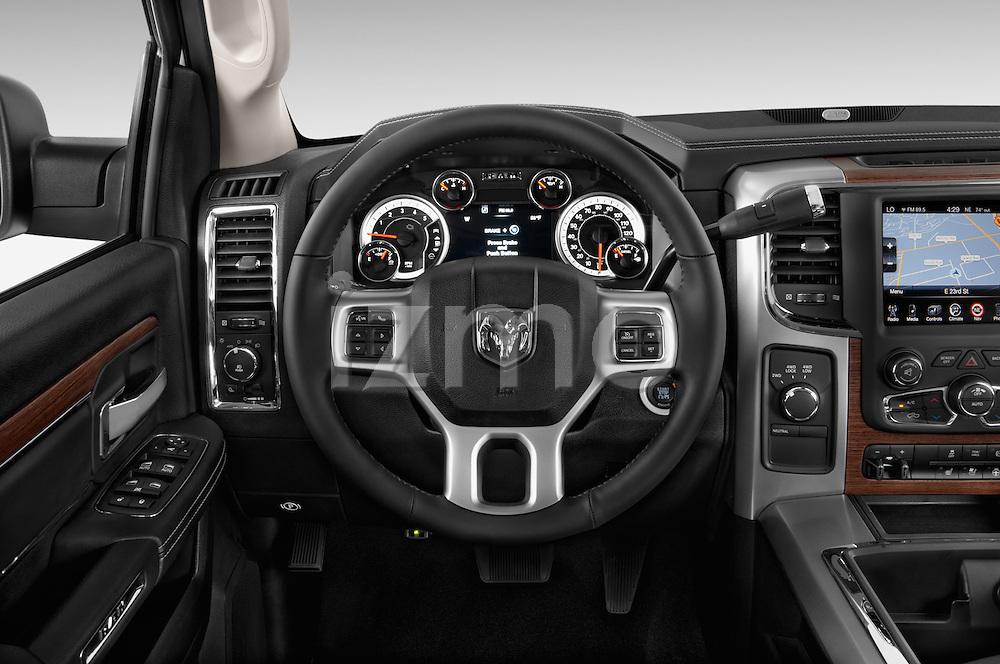 Car pictures of steering wheel view of a 2015 Ram 2500 Laramie 4 Door Truck