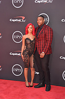 LOS ANGELES, USA. July 10, 2019: Daron Payne & Yaunna Taylor at the 2019 ESPY Awards at the Microsoft Theatre LA Live.<br /> Picture: Paul Smith/Featureflash