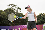 Paula Creamer plays tennis at the 10th hole during the World Celebrity Pro-Am 2016 Mission Hills China Golf Tournament on 21 October 2016, in Haikou, China. Photo by Weixiang Lim / Power Sport Images