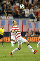 U.S defender Geoff Cameron (20) keeps his eye on the ball..USMNT defeated Guatemala 3-1 in World Cup qualifying play at LIVESTRONG Sporting Park, Kansas City, KS.