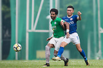 Eduardo Praes of Wofoo Tai Po (L) in action against Yiu Kwok of Rangers (R) during the week three Premier League match between BC Rangers and Wofoo Tai Po at Sham Shui Po Sports Ground on September 17, 2017 in Hong Kong, China. Photo by Marcio Rodrigo Machado / Power Sport Images