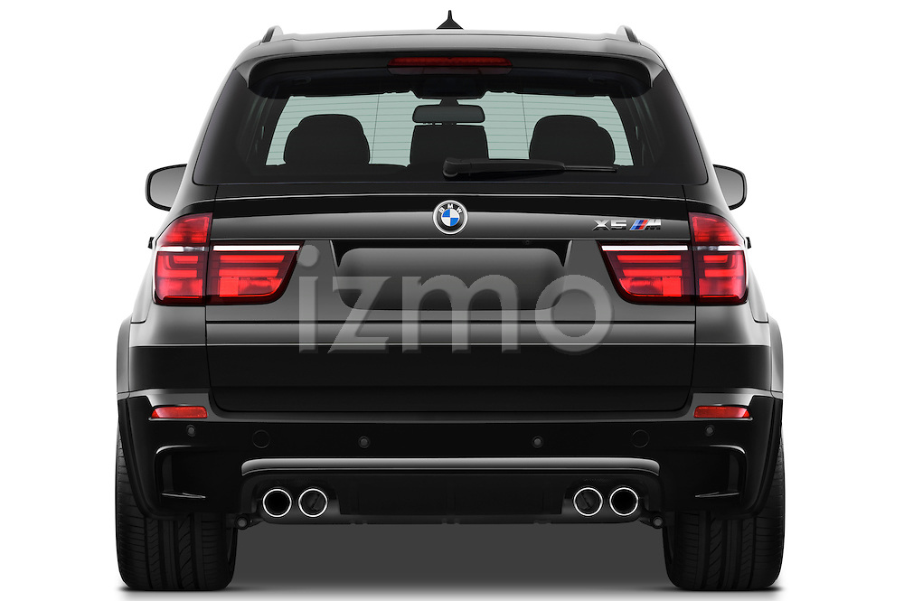 Straight rear view of a 2013 BMW X5 M