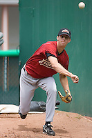 Jordan Lyles (20) of the Greeneville Astros throws a bullpen session at Bowen Field in Bluefield, WV, Sunday July 6, 2008. (Photo by Brian Westerholt / Four Seam Images)