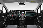 Stock photo of straight dashboard view of 2019 Fiat 500X City-Cross 5 Door SUV Dashboard