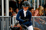 October 17, 2021: Zoe Crawford (USA), aboard K.E.C. Zara, reacts after competing during the Stadium Jumping Final at the 5* level during the Maryland Five-Star at the Fair Hill Special Event Zone in Fair Hill, Maryland on October 17, 2021. Jon Durr/Eclipse Sportswire/CSM