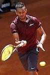 Nick Kyrgios, Australia, during Madrid Open Tennis 2016 match.May, 4, 2016.(ALTERPHOTOS/Acero)