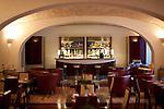 The bar area at the hotel Casa Kolbe near the Roman Forum.