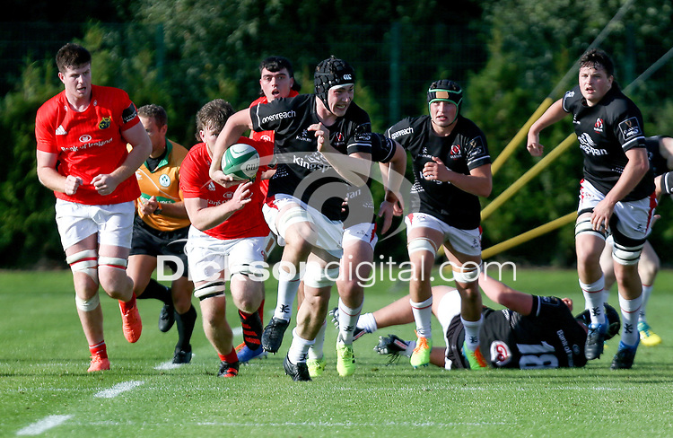 Saturday 18th September 2021<br /> <br /> Harry Sheridan during the Development A Interprovincial game Ulster A and Munster A at the IRFU High Performance Centre, Dublin, Ireland. Photo by John Dickson/Dicksondigital