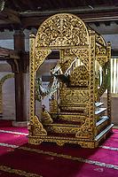 Yogyakarta, Java, Indonesia.  The Minbar, from which the imam gives the Friday Sermon.  Great Mosque, Masjid Gedhe Kauman, mid-18th. Century.