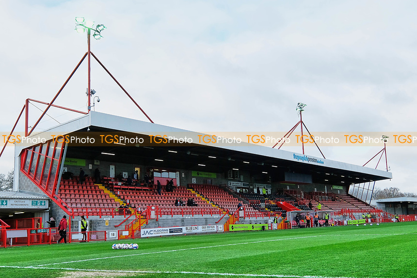 General view of the ground ahead of Crawley Town vs Barrow, Sky Bet EFL League 2 Football at Broadfield Stadium on 12th December 2020
