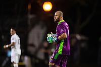 LAKE BUENA VISTA, FL - JULY 23: Marko Maric #1 of the Houston Dynamo catches the ball during a game between Los Angeles Galaxy and Houston Dynamo at ESPN Wide World of Sports on July 23, 2020 in Lake Buena Vista, Florida.