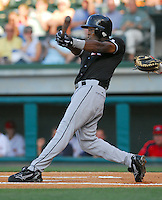 4 June 2007: John Shelby of the Kannapolis Intimidators Class A South Atlantic League affiliate of the Chicago White Sox, in a game against the Greenville Drive at West End Field in Greenville, S.C. Photo by:  Tom Priddy/Four Seam Images