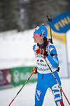 MARTELL-VAL MARTELLO, ITALY - FEBRUARY 02: RUNGGALDIER Alexia (ITA) after the Women 7.5 km Sprint at the IBU Cup Biathlon 6 on February 02, 2013 in Martell-Val Martello, Italy. (Photo by Dirk Markgraf)