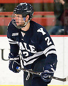 Gus Young (Yale - 2) - The Harvard University Crimson defeated the visiting Yale University Bulldogs 8-2 in the third game of their ECAC Quarterfinal matchup on Sunday, March 11, 2012, at Bright Hockey Center in Cambridge, Massachusetts.