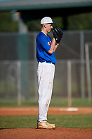 Mason Moore (1) during the WWBA World Championship at Lee County Player Development Complex on October 9, 2020 in Fort Myers, Florida.  Mason Moore, a resident of Morehead, Kentucky who attends Rowan County Senior High School, is committed to Kentucky.  (Mike Janes/Four Seam Images)