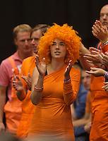 15-sept.-2013,Netherlands, Groningen,  Martini Plaza, Tennis, DavisCup Netherlands-Austria, fourth rubber,  Dutch supporter <br /> Photo: Henk Koster