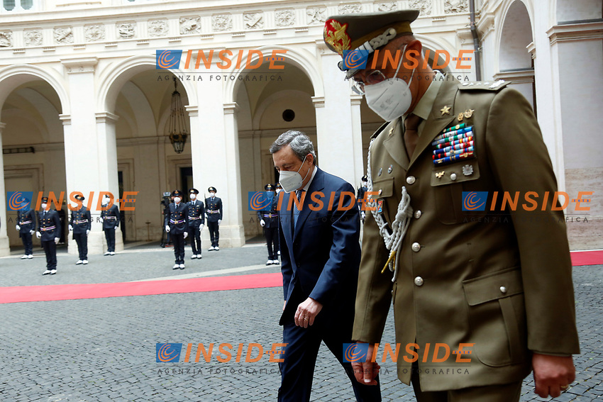 The Italian premier Mario Draghi meets at Palazzo Chigi the President of the Republic of Austria.<br /> Rome (Italy), June 8th 2021<br /> Photo Samantha Zucchi Insidefoto