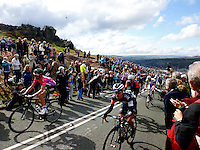 Picture by Barry Wilkinson/SWpix.com - 03/05/2015 - Cycling - 2015 Tour de Yorkshire: Stage 3, Wakefield to Leeds - Sir Bradley Wiggins of Team Wiggins makes his way up the Cow and Calf climb in Ilkley during Stage 3.
