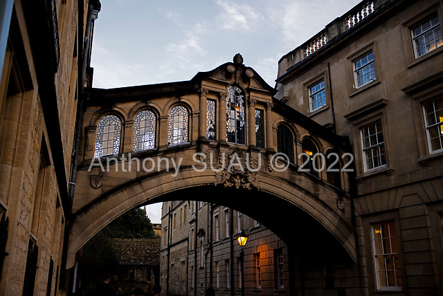 """Oxford University<br /> Oxford, United Kingdom<br /> November 2018<br /> <br /> Hertford Bridge, often called """"the Bridge of Sighs"""", is a skyway joining two parts of Hertford College over New College Lane"""