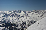 View from Riffel 2 Chairlift, Rendl Ski Area at St Anton, Austria,