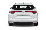 Straight rear view of 2020 Renault Megane-Grandtour Intens 5 Door Wagon Rear View  stock images