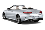 Car pictures of rear three quarter view of a 2018 Mercedes Benz E Class E400 2 Door Convertible angular rear