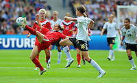 Rhian Wilkinson (l) of Canada during the FIFA Women's World Cup at the FIFA Stadium in Berlin, Germany on June 26th, 2011.