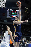 Real Madrid's Gustavo Ayon (l) and Alba Berlin's Jonas Wohlfarth during Euroleague match.March 12,2015. (ALTERPHOTOS/Acero)