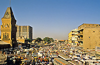 Pakistan. Karachi. Empress Market and bus station.