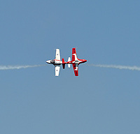 FORT LAUDERDALE, FL - MAY 06: Canadian Armed Forces Snowbirds performs in the Ford Lauderdale Air Show on May 6, 2017 in Fort Lauderdale, Florida<br /> <br /> <br /> People:  Canadian Armed Forces Snowbirds