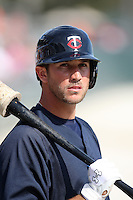 March 8, 2010:  Shortstop Trevor Plouffe of the Minnesota Twins during a Spring Training game at Ed Smith Stadium in Sarasota, FL.  Photo By Mike Janes/Four Seam Images