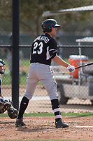Chicago White Sox left fielder Blake Rutherford (23) during a Minor League Spring Training game against the Chicago White Sox at Camelback Ranch on March 16, 2018 in Glendale, Arizona. (Zachary Lucy/Four Seam Images)