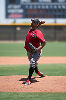 Arizona Diamondbacks relief pitcher Omar Herman (11) delivers a pitch during an Extended Spring Training game against the Cleveland Indians at the Cleveland Indians Training Complex on May 27, 2018 in Goodyear, Arizona. (Zachary Lucy/Four Seam Images)