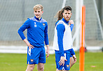 St Johnstone Training....24.02.21<br />Ali McCann pictured with Guy Melamed during training at McDiarmid Park ahead of Sunday's BETFRED Cup Final against Livingston at Hampden Park.<br /><br />Picture by Graeme Hart.<br />Copyright Perthshire Picture Agency<br />Tel: 01738 623350  Mobile: 07990 594431