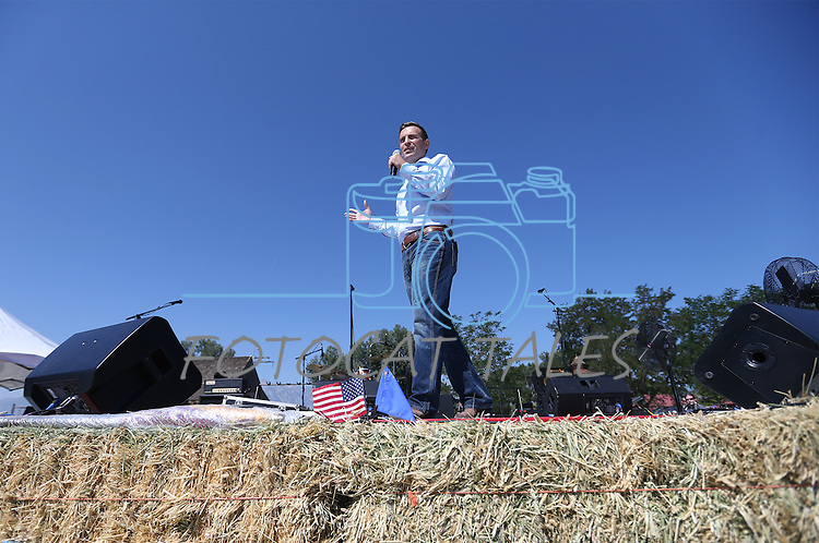 Nevada Attorney General Adam Laxalt speaks at the second annual Basque Fry in Gardnerville, Nev., on Saturday, Aug. 20, 2016. Cathleen Allison/Las Vegas Review-Journal