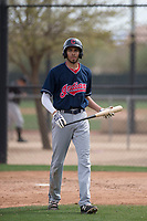 Cleveland Indians first baseman Michael Cooper (39) during a Minor League Spring Training game against the Chicago White Sox at Camelback Ranch on March 16, 2018 in Glendale, Arizona. (Zachary Lucy/Four Seam Images)