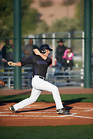 Julio Tamez (7) of Tompkins High School in Katy, Texas during the Baseball Factory All-America Pre-Season Tournament, powered by Under Armour, on January 13, 2018 at Sloan Park Complex in Mesa, Arizona.  (Zachary Lucy/Four Seam Images)