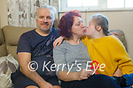 Rachel Fitzgerald with her daughter Peppy and husband Marcus at home in Ardfert, and who are worried about the devastating impact being out of school will have on their  13-year-old daughter Peppy who has Down syndrome and attends Nano Nagle Special School in Listowel.