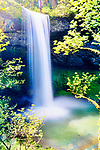 South Falls, Silver Falls State Park, Oregon.  Crown Jewell of Oregon State Parks.  Lacey waterfall with native flora.