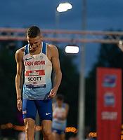 5th June 2021; Birmingham University Athletics Track, Birmingham, Midlands, England; European 10000 Metre Finals, British Olympic Trials 10000 Metre; Marc Scott after beating Mo Farah to 1st place