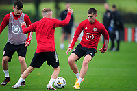 Ben Woodburn of Wales in action during the Wales Training Session at The Vale Resort in Cardiff, Wales, UK. Monday 5 October 2020