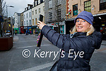 Bernadette Sugrue from Tralee taking photos of Tralee for her Facebook page.