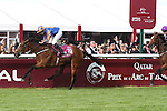 October 02, 2016, Chantilly, FRANCE - Found with Ryan-Lee Moore up wins the Qatar Prix de'l Arc de Triomphe (Gr. I) at  Chantilly Race Course  [Copyright (c) Sandra Scherning/Eclipse Sportswire)