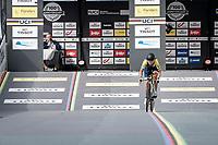 at the race start in Knokke-Heist<br /> <br /> Women Elite Individual Time Trial from Knokke-Heist to Bruges (30.3 km)<br /> <br /> UCI Road World Championships - Flanders Belgium 2021<br /> <br /> ©kramon