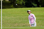 Narisara Kerdrit of Thailand plays an approach shot during the first round of the EFG Hong Kong Ladies Open at the Hong Kong Golf Club Old Course on May 11, 2018 in Hong Kong. Photo by Marcio Rodrigo Machado / Power Sport Images